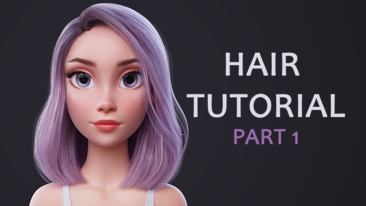 Blender Hair Tutorial Part 1 (styling the hair) - YouTube