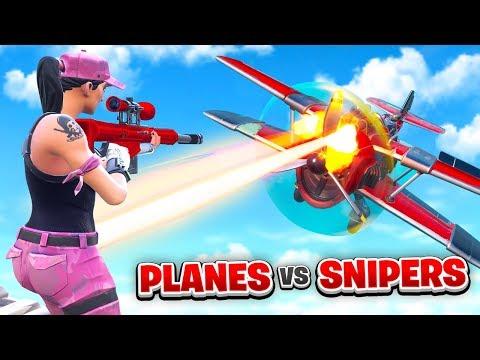 PLANES vs SNIPERS in Fortnite (Custom Mode)