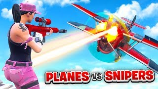 PLANES vs SNIPERS in Fortnite (Custom Mode)