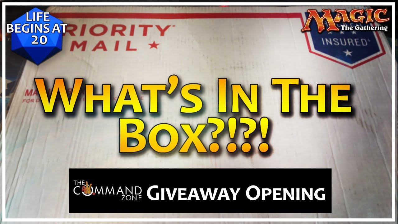 What's in the Box?!?! The Command Zone Game Knights MTG Giveaway ...