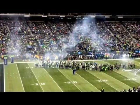 Seattle Seahawks Vs St Louis Rams Tunnel Intro Fire Up The Crowd #STLvsSEA