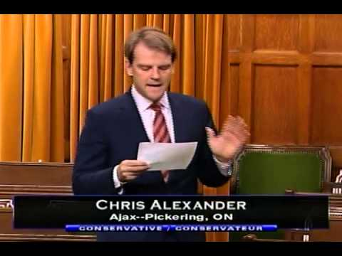 2013-06-14 Chris Alexander, MP Speaking in the House of Commons on Samuel de Champlain