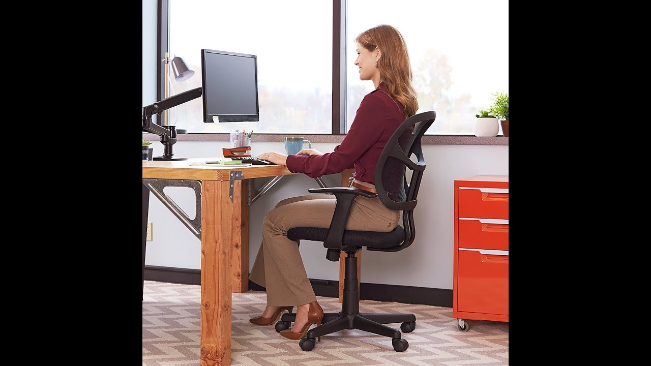 BEST Office Task Chairs 2017 | AmazonBasics Mid Back Mesh Chair Office  Furniture