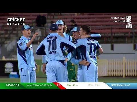 Highlights: NSW v Tasmania, JLT One-Day Cup