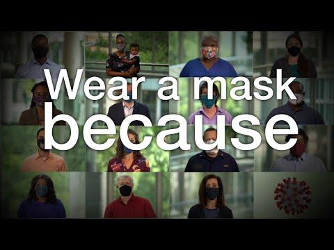 I wear a mask because - English (1:43)