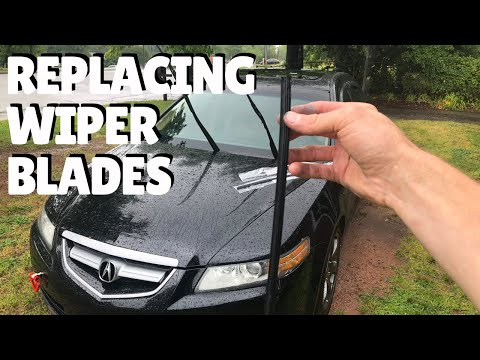 How to REPLACE wiper blade inserts on 04-08 Acura TL