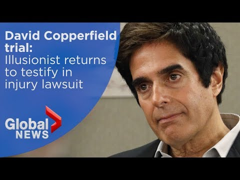 Illusionist David Copperfield returns to testify in injury lawsuit