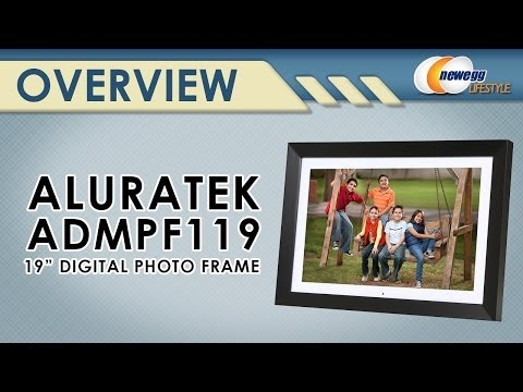 """Aluratek 19"""" 1440x900 Digital Photo Frame with 2GB Built-in Memory Overview - Newegg Lifestyle"""