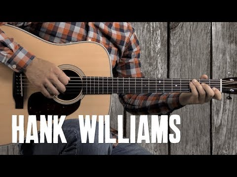 Hank Williams Country Strumming and Guitar Solo - Style of Your Cheatin' Heart - Easy Guitar Lesson