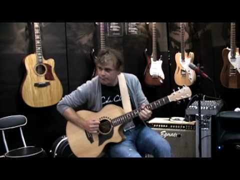 Adam Miller playing Dinosaurs @ Cole Clark's NAMM 2010 booth