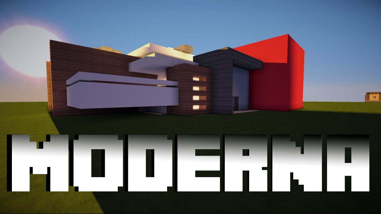 Como hacer una casa moderna en minecraft descarga - Como construir tu casa ...