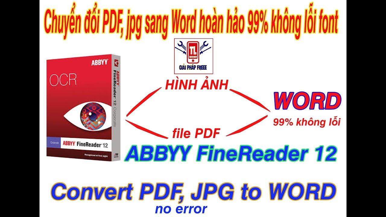[giaiphapfree] Chuyển đổi file PDF sang Word không lỗi font  (how to convert pdf to word no error)