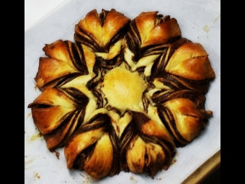 Nutella Brioche Star Bread