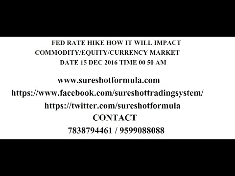 FED RATE HIKE. HOW IT WILL IMPACT COMMODITY/EQUITY/CURRENCY MARKET??? DATE 15 DEC 2016 TIME 00 50 AM