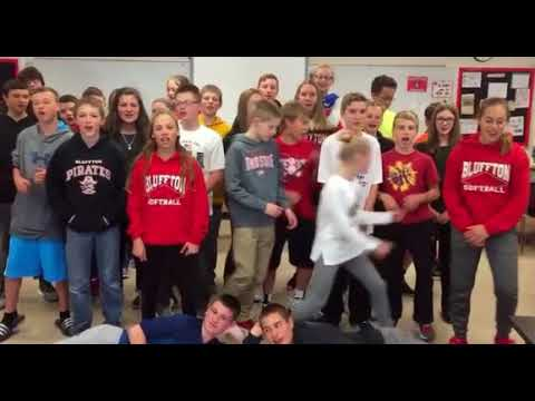 Wacky Bluffton Middle School sets classroom on fire for Channel One News January 2018