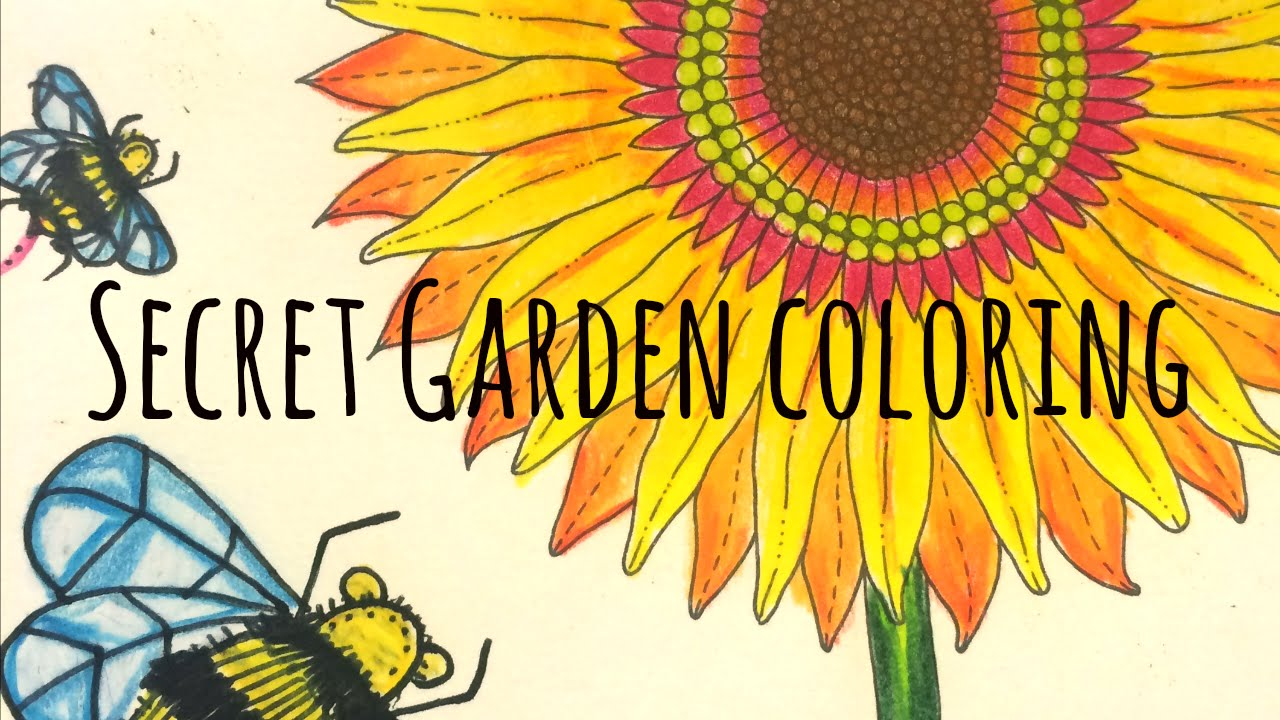 How to Color: Secret Garden Coloring Book - YouTube