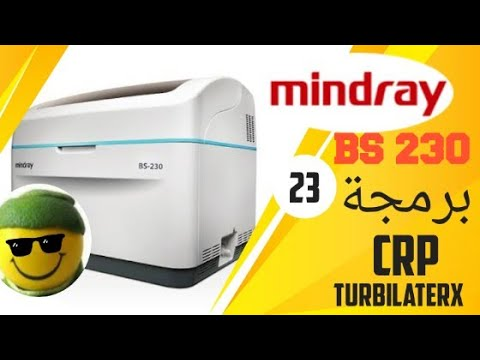 How To Program CRP Turbilatex (spinreact) In The Mindray Bs 230/240 Chemistry Analyzer