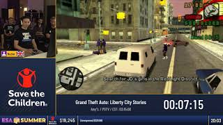 #ESASummer18 - Grand Theft Auto: Liberty City Stories [Any%] - by Nozlar
