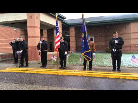 Post 172 Veterans Day Ceremony at North Freedom Elementary School