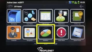 PeopleNet tablet workflow