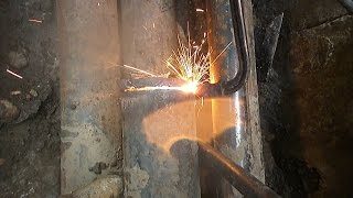 Сварка с водой. Welding with water.