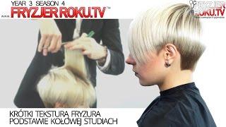 Krótki teksturą fryzura podstawie kołowej studiach. FryzjerRoku.tv