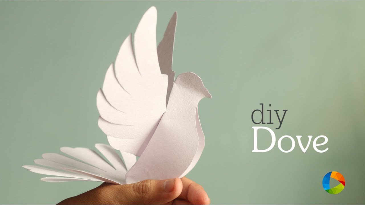 diy dove paper craft with templates youtube