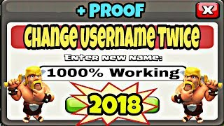 How To Change Your Name Twice Clash Of Clans In Hindi 2018 New