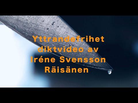 Yttrandefrihet – diktvideo av poeten Iréne Svensson Räisänen