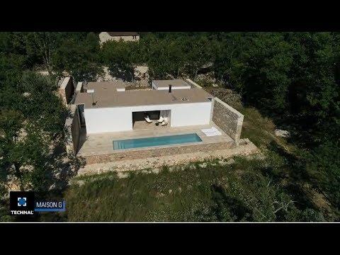 Une maison du lot toute en transparence et pierres naturelles