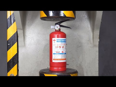 Fire Extinguisher Vs 200 Tons Pressure, Unexpected Results