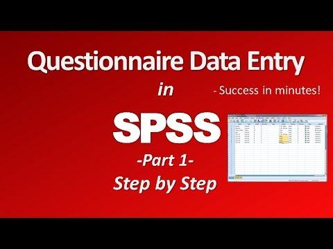 SPSS Questionnaire/Survey Data Entry - Part 1