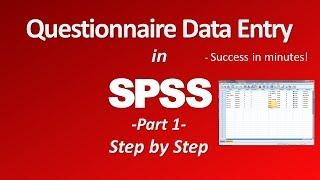 SPSS Questionnaire/Survey Data Entry - Part 1 thumbnail