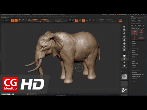 """CGI Zbrush Tutorial HD: """"Zbrush Sculpting an Elephant"""" by Isaac Oster - Part 2"""