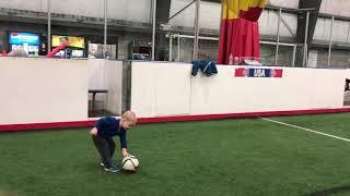Kodiak playing soccer