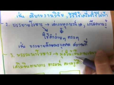 TU ondemand by814 - ภาษาไทย เรื่องโวหาร