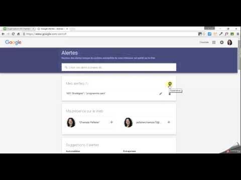 Tutoriel : créer une alerte Google et l