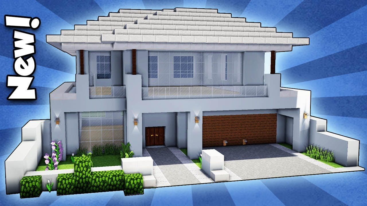 Minecraft how to build a modern house easy tutorial for How to build a modern home