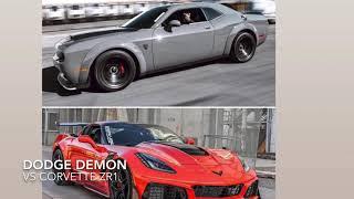 Dodge Demon(stock) VS Corvette ZR1 (stock)