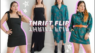 THRIFT FLIP NO SEW | 2 dresses to 4 pieces- bc more clothes is always a better idea
