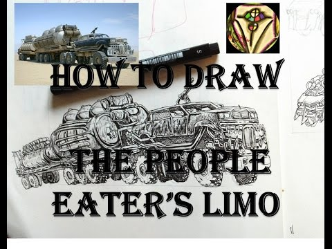 how to draw the people eaters limo