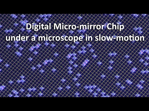 DMD-mirrors Of A DLP-projector Moving In Slow Motion (using A Stroboscope)
