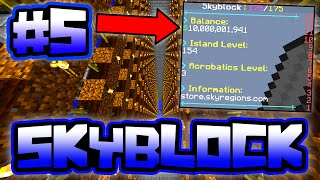 BIGGEST AUTO FARM ON THE SERVER!! | Server SkyBlock in Minecraft #5