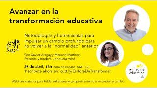 Webinar Avanzar en la transformación educativa