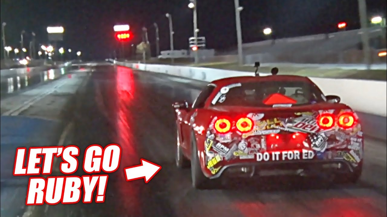 The Auction Corvette Attempts a 9 SECOND PASS! (First Pass w/Powerglide)