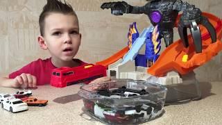 ВМ: Играем Машинки Хотвилс меняют цвет в воде | Unboxing and playing HotWeels Splash Colors Nitrobot