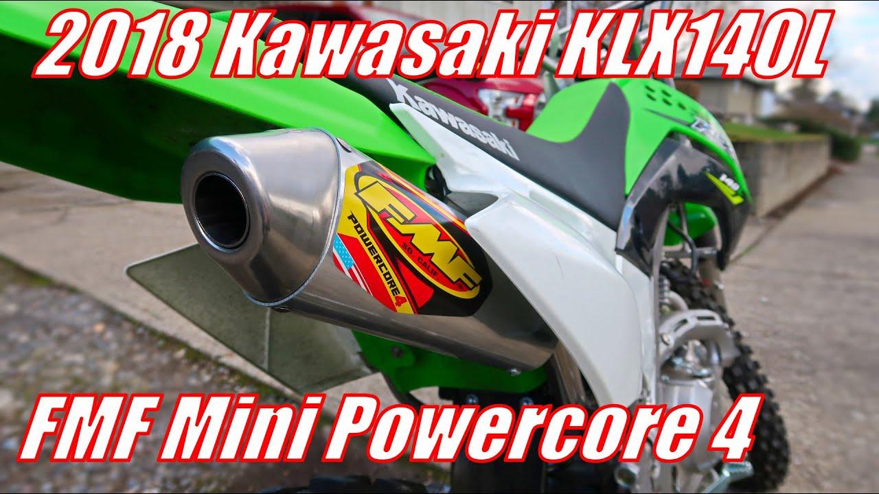 2018 kawasaki klx140l mini powercore 4 install quick sound test