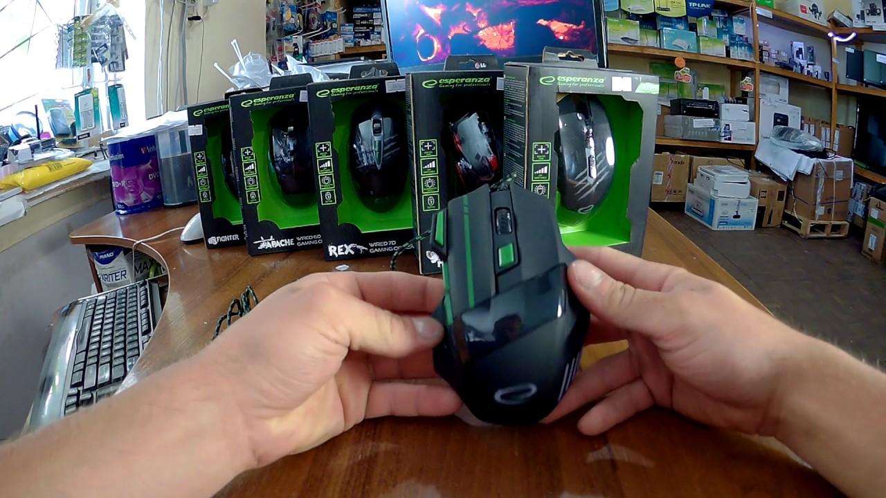 Обзор игровой дешевой мышки Esperanza MX201 Wolf USB  EGM201B