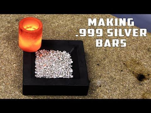 How To Make .999 SILVER BAR from SILVER PEARLS