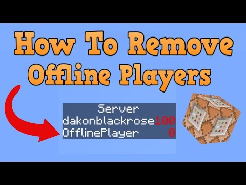 How To Remove Offline Players In Scoreboard Objectives (Minecraft Commands)